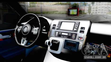 Volkswagen Caravelle para GTA San Andreas vista interior