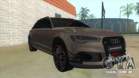 Audi RS6-R para GTA San Andreas vista traseira