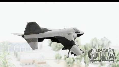 MGSV Phantom Pain Hydra v2 para GTA San Andreas vista direita