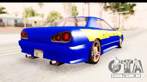 NFSU2 Tutorial Skyline Paintjob for Elegy para GTA San Andreas vista direita