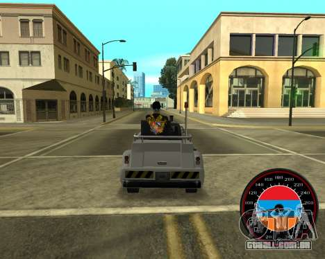O velocímetro no estilo do armênio bandeira V 2. para GTA San Andreas