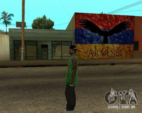 Grove Street Armenian Flag para GTA San Andreas