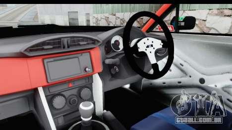 D1GP Toyota 86 2015 DRIVE para GTA San Andreas vista interior