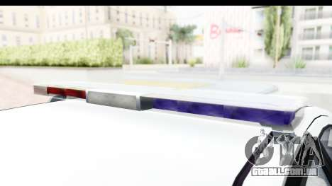 Sri Lanka Police Car v2 para GTA San Andreas vista interior