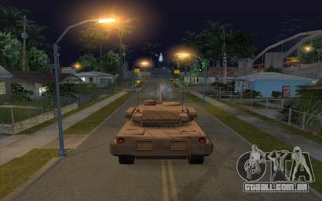 O efeito de disparo de tanque para GTA San Andreas