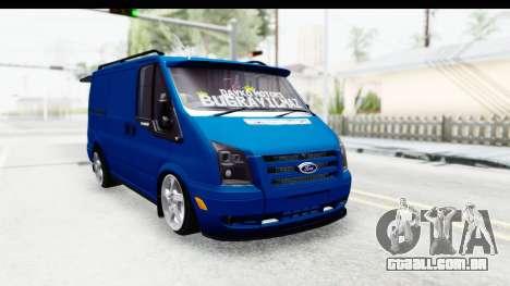 Ford Transit Air para GTA San Andreas traseira esquerda vista