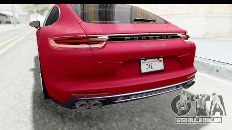 Porsche Panamera 4S 2017 v2 para GTA San Andreas vista inferior