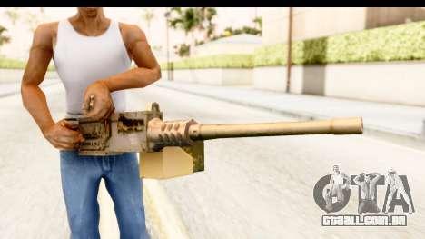 M2 Browning para GTA San Andreas terceira tela