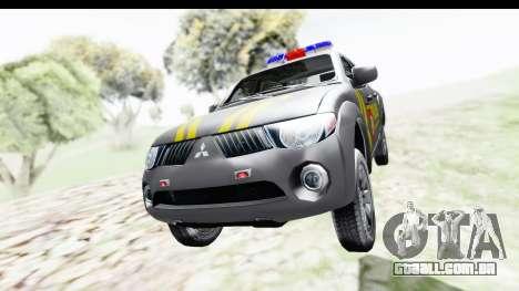 Mitsubishi L200 Indonesian Police para GTA San Andreas vista direita
