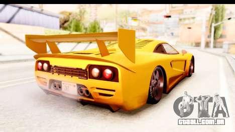 GTA 5 Progen Tyrus SA Style para GTA San Andreas traseira esquerda vista