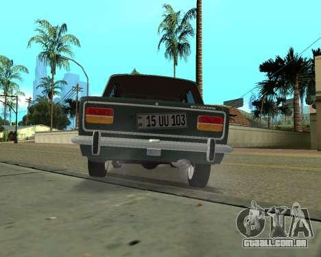 VAZ 2103 arménio para GTA San Andreas vista traseira
