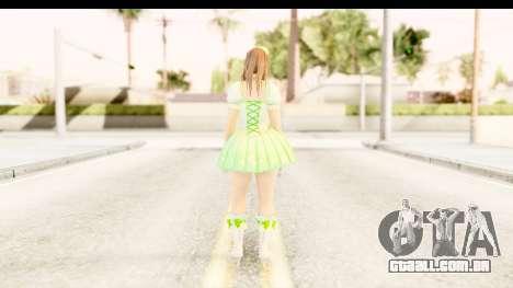 Dead Or Alive 5 - Hitomi Pop Idol para GTA San Andreas terceira tela