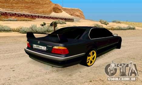 BMW 730 para GTA San Andreas traseira esquerda vista