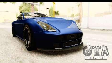 GTA 5 Dewbauchee Rapid GT para GTA San Andreas vista direita