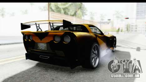 NFS Carbon Chevrolet Corvette para GTA San Andreas vista direita