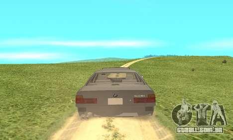 BMW 535i para GTA San Andreas vista interior