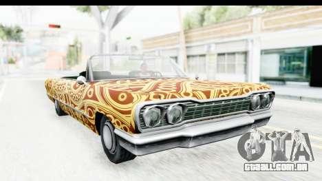 Savanna New PJ para GTA San Andreas vista traseira