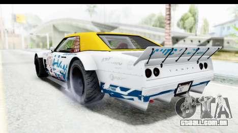 GTA 5 Declasse Drift Tampa para GTA San Andreas vista inferior