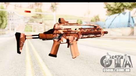 SCAR-LK Hex Camo Blue para GTA San Andreas segunda tela