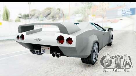 VCS Infernus para GTA San Andreas vista direita