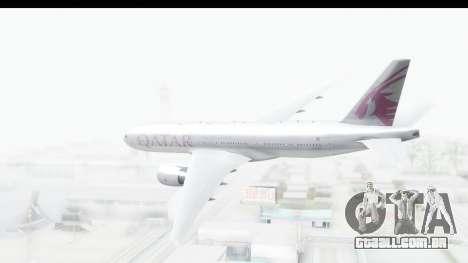 Boeing 777-200LR Qatar Airways para GTA San Andreas vista direita
