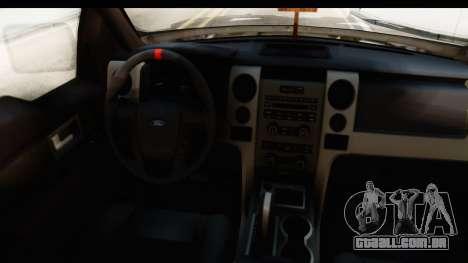 Ford F-150 Federal Police para GTA San Andreas vista interior