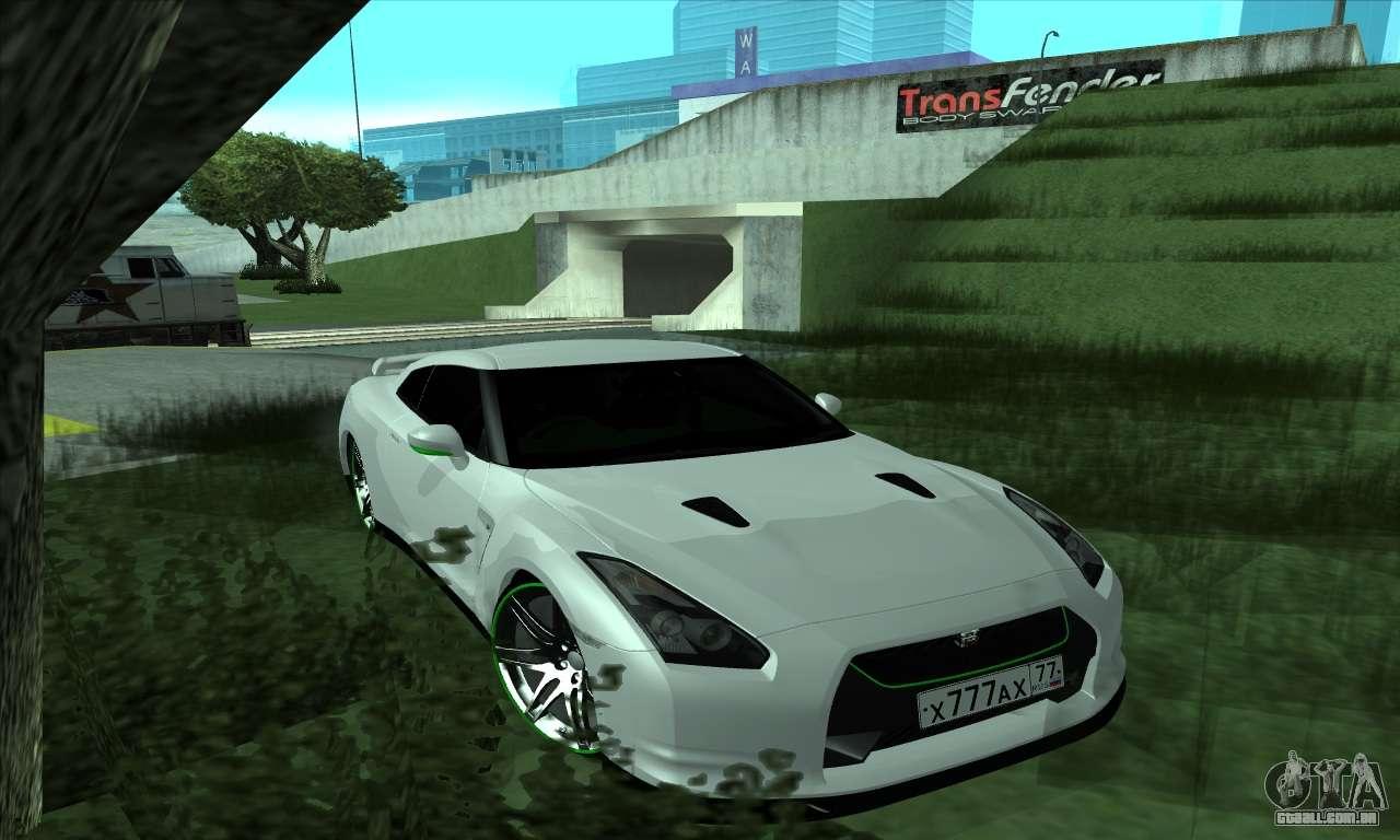 Nissan Gt R R35 Green Screen Para Gta San Andreas
