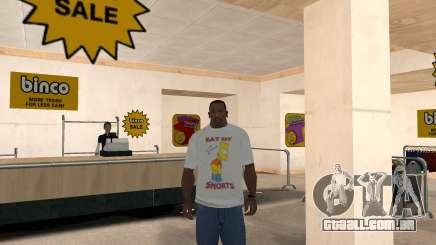Bart Simpson T-Shirt para GTA San Andreas