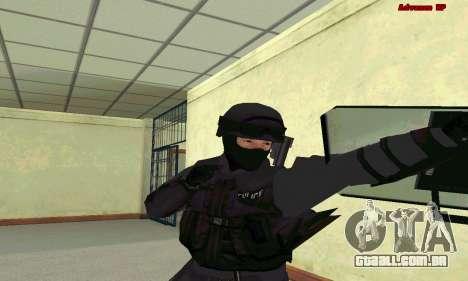 Pele SWAT GTA 5 para GTA San Andreas terceira tela