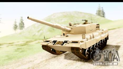 Leopard 2A4 para GTA San Andreas vista direita