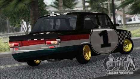 VAZ 2101 é um Carro de Corrida para GTA San Andreas esquerda vista