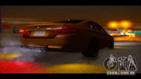 BMW M5 F10 2014 para GTA San Andreas vista traseira