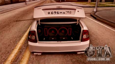 Lada Priora Autozvuk v.2 para GTA San Andreas traseira esquerda vista