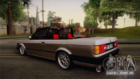 BMW M3 E30 1991 v2 para GTA San Andreas esquerda vista