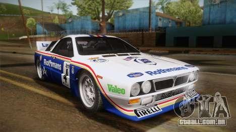Lancia Rally 037 Stradale (SE037) 1982 Dirt PJ2 para GTA San Andreas vista direita