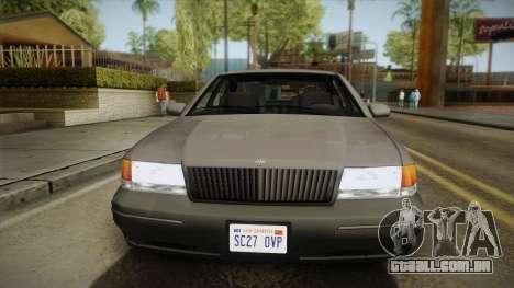 Willard Elegant SA Style para GTA San Andreas traseira esquerda vista