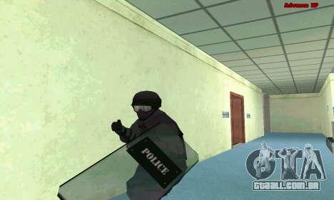Pele SWAT GTA 5 (PS3) para GTA San Andreas segunda tela