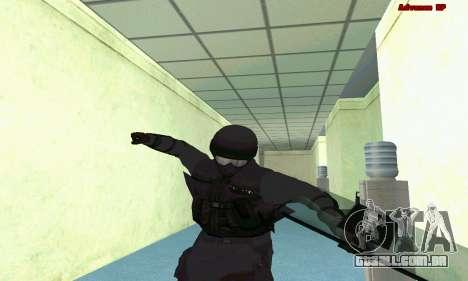 Pele SWAT GTA 5 (PS3) para GTA San Andreas oitavo tela