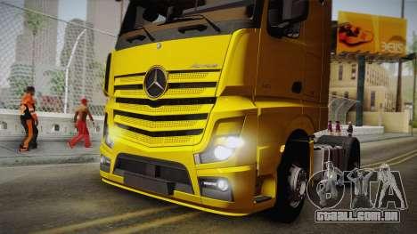 Mercedes-Benz Actros Mp4 4x2 v2.0 Gigaspace v2 para GTA San Andreas vista traseira