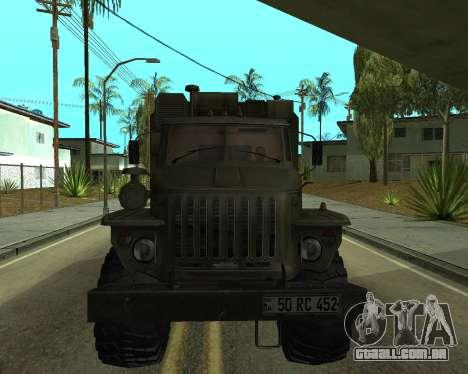 Ural 4320 Armenian para GTA San Andreas esquerda vista