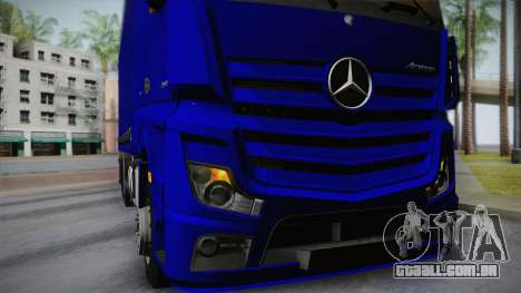 Mercedes-Benz Actros Mp4 v2.0 Tandem Steam para GTA San Andreas vista interior