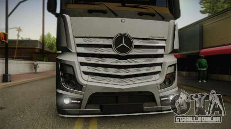 Mercedes-Benz Actros Mp4 6x4 v2.0 Steamspace v2 para GTA San Andreas vista direita