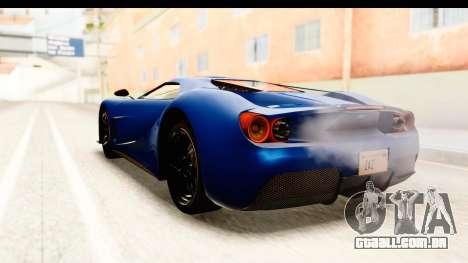GTA 5 Vapid FMJ SA Style para GTA San Andreas vista direita