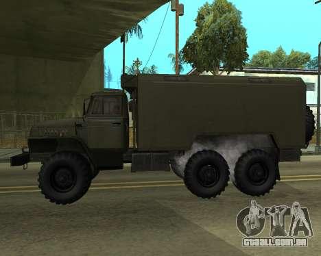 Ural 4320 Armenian para GTA San Andreas traseira esquerda vista