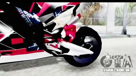 Dark Smaga Motorcycle with Frostbite 2 Logos para GTA San Andreas vista interior