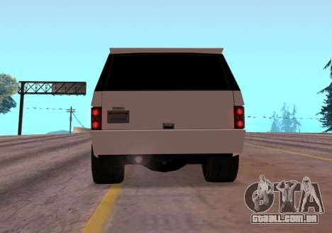 Huntley Rover para GTA San Andreas vista traseira