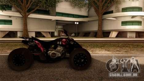 Quad Graphics Skull para GTA San Andreas traseira esquerda vista