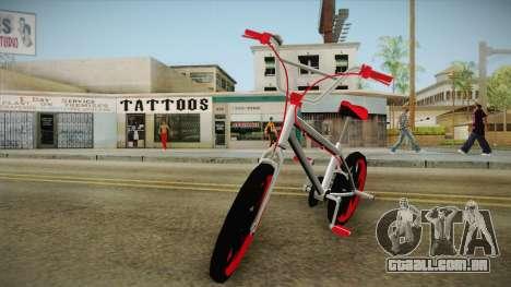Dark Red BMX para GTA San Andreas traseira esquerda vista
