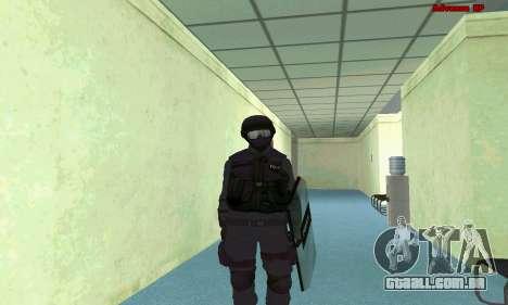 Pele SWAT GTA 5 (PS3) para GTA San Andreas sexta tela