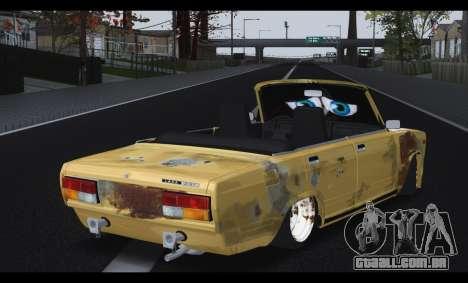 2107 Pobre rapaz para GTA San Andreas traseira esquerda vista